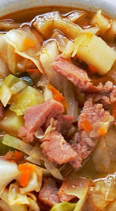 Ham & Cabbage Soup