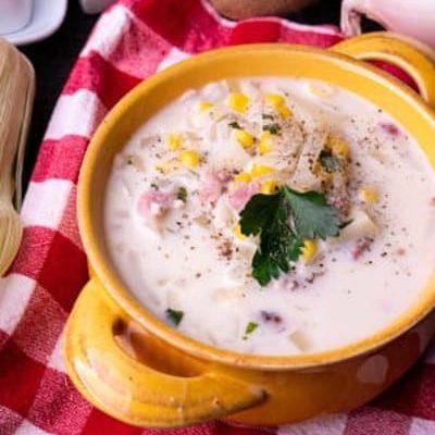 Ham and Corn Potato Soup